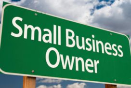 Street sign that reads, Small Business Owner